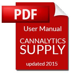 Cannalytics Supply User Manual | Cannalytics Supply